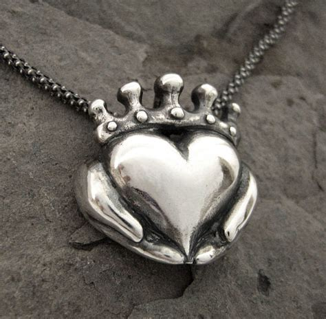 Handmade Jewellery Ireland - handmade claddagh necklace ready to ship claddagh pendant