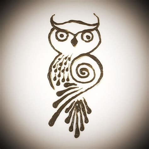 owl henna tattoo best 25 simple owl ideas on simple owl