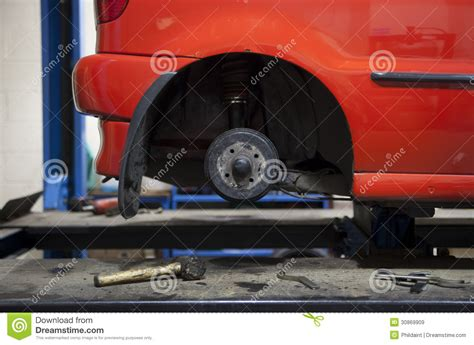 getting fixed car in garage royalty free stock images image 30869909