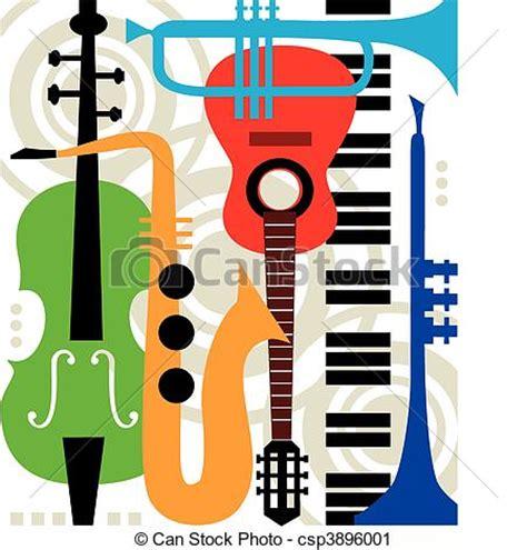 what instruments can be found in the jazz rhythm section clipart vettoriali di strumenti estratto vettore musica