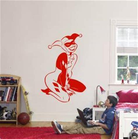 harley quinn room decor harley quinn decal wall sticker home decor vinyl stencil batman joker st49