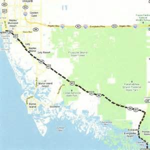 florida backroads travel map of route along us 41 tamiami