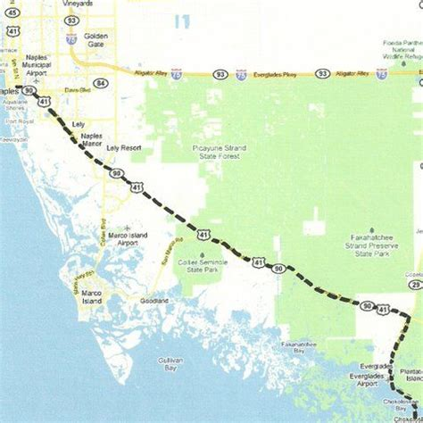 everglade city florida map florida backroads travel map of route along us 41 tamiami