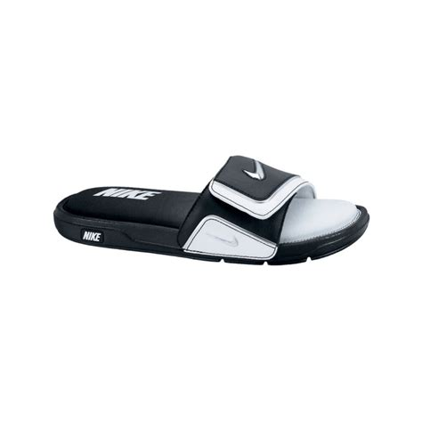 nike slides comfort nike comfort slides in black for men black white metallic