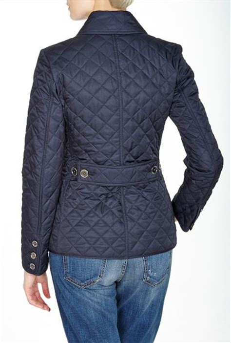 burberry brit copford quilted jacket in blue navy lyst