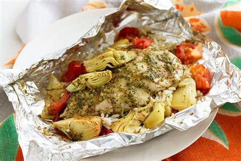 foil pack chicken grilled artichoke dinner recipe