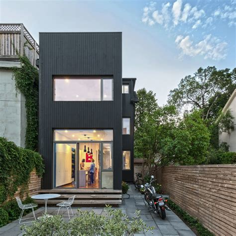 narrow lot home designs narrow dwelling in toronto converted into bright family