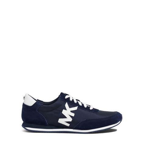 kors sneakers lyst michael kors stanton suede and leather sneaker in blue