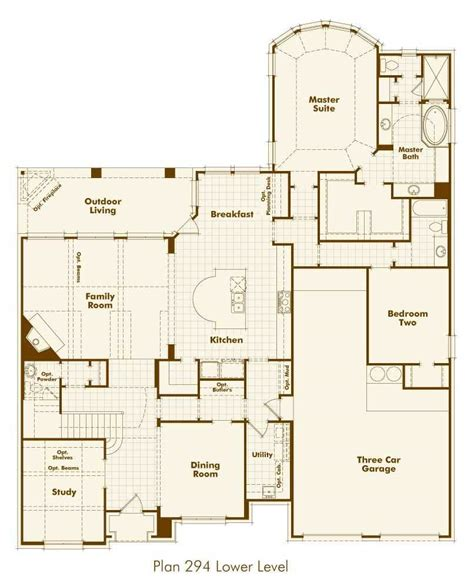 Highland Homes Floor Plans by New Home Plan 294 In Prosper Tx 75078