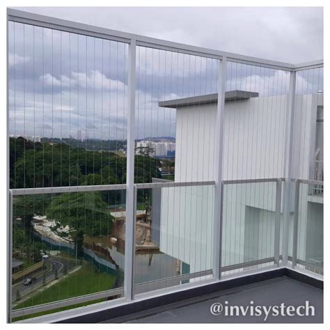 open balcony design irregular shape balcony invisys invisible grille