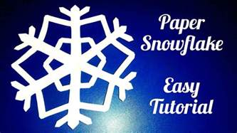 Easy Way To Make Paper Snowflakes - paper snowflake easy tutorial doovi