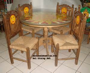 mexican hand painted dining mexican carved furniture solid wood sol dining setchairsm mexican carv