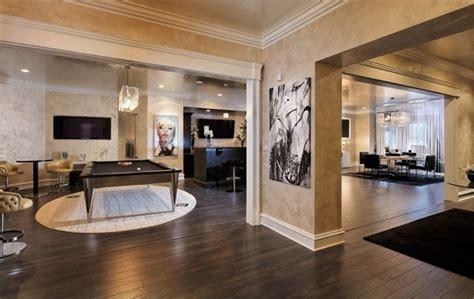 elegant basement contemporary family room dc metro