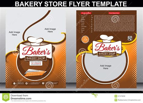bakery shop flyer template amp magazine cover stock vector