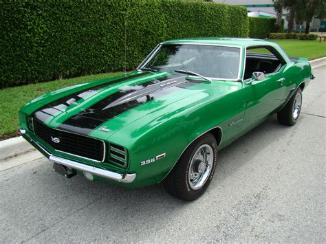 green 69 camaro chevrolet chevy for sale