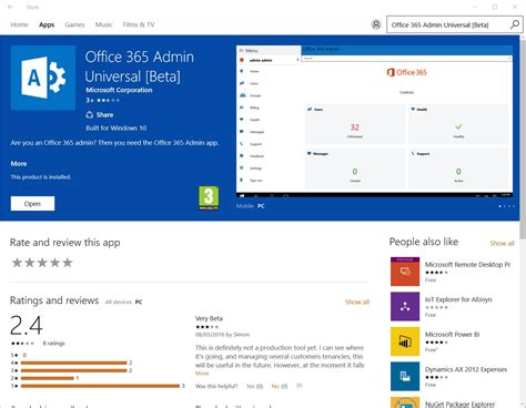 Apps For Office by Office 365 Admin App For Windows 10 Techgenix