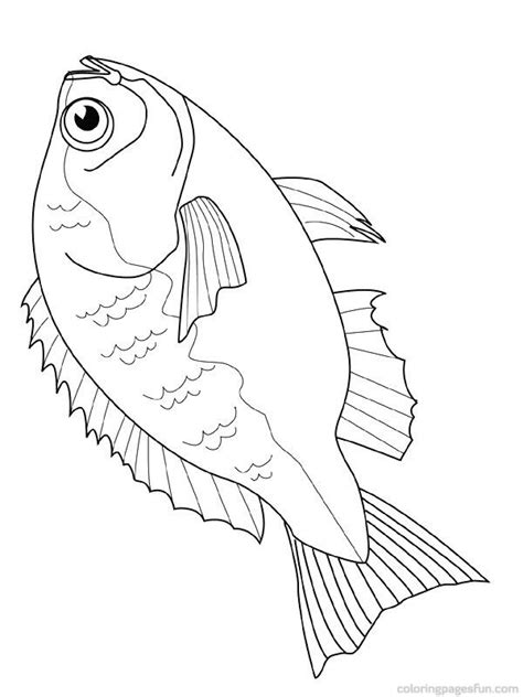 coloring pages of tiger fish free downloadable jumbo fish coloring pages fish