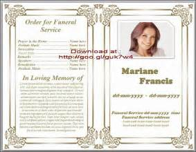 free funeral memorial order of service program obituary