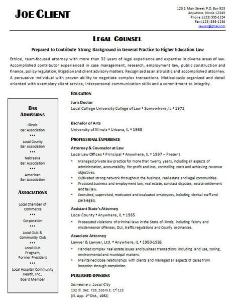 general practice attorney resume