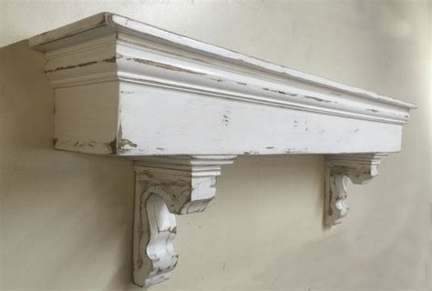 Shelf With Corbels by Country Mantle With Corbels Large Mantle Wooden