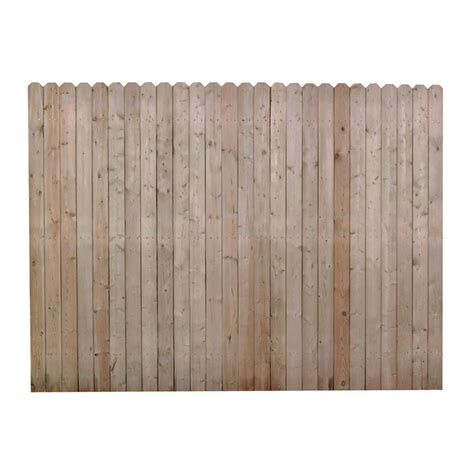 lowes ear fence shop pine ear pressure treated wood fence panel common 6 ft x 8 ft actual 6 ft