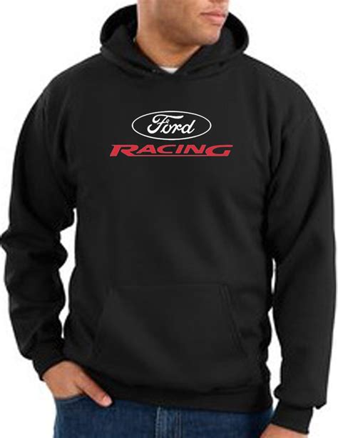 Hoodiesweater Ford Racing ford racing hoodie hooded sweatshirt classic car black hoody ford racing hoodies