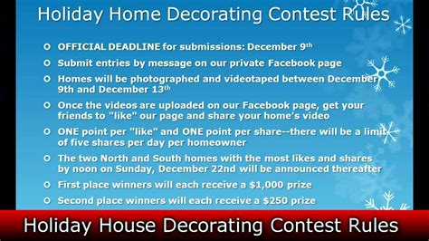 home decorating rules realestatesiny com s holiday home decorating contest rules youtube
