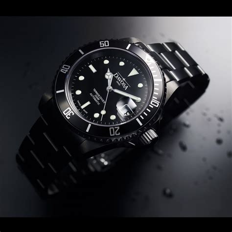 Watches Black oceanictime davosa black ternos le new