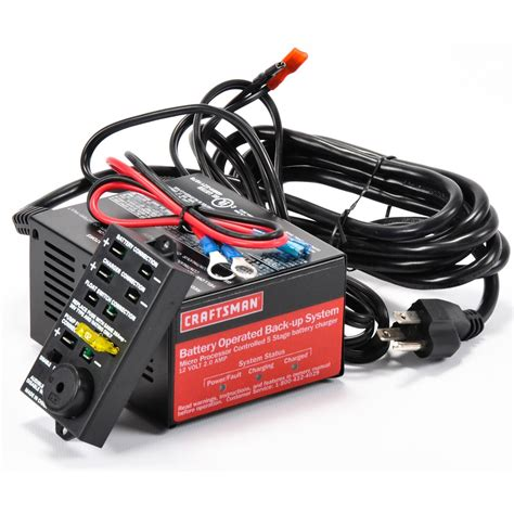craftsman battery charger craftsman 5 stage 2a charger with ring terminals