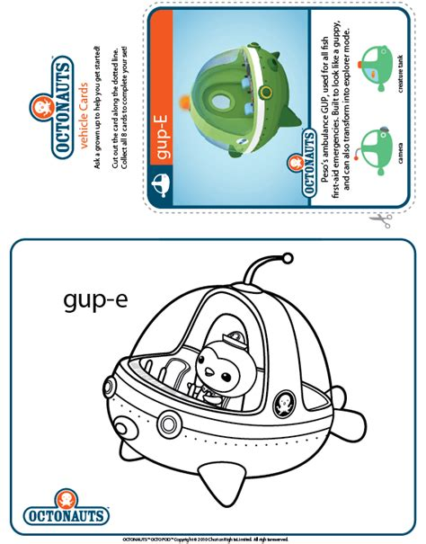 Gup X Coloring Page by Free Coloring Pages Of Gup C Octonauts