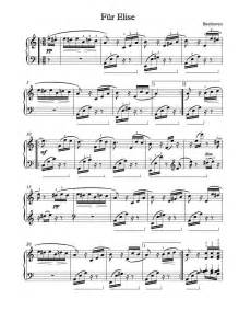 Free piano sheet music f 252 r elise michael kravchuk