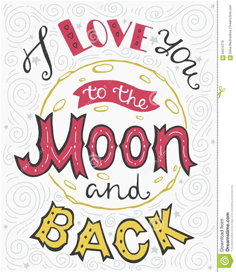 to the moon and back valentines day card template i you to the moon and back stock vector image 64516779