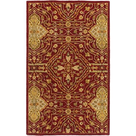 Area Rug 5 X 8 Artistic Weavers Hita Burgundy 5 Ft X 8 Ft Indoor Area Rug S00151008699 The Home Depot