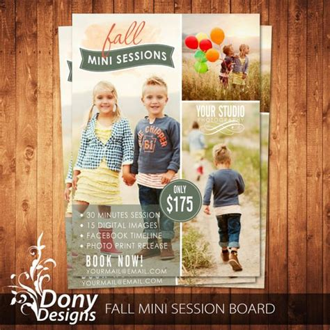 free advertising templates for photoshop buy 1 get 1 free fall mini session photography marketing