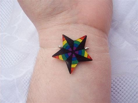 gay pride star tattoo designs rainbow nautical quot quot bracelet pride