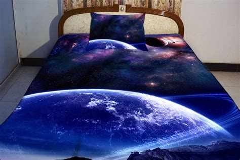 galaxy bed spread galaxy bedding set two sides printing galaxy twin by tbedding