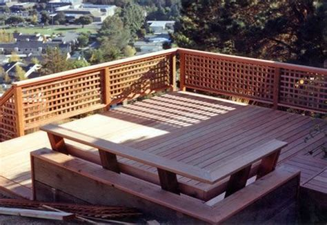 Deck Railing Designs With Lattice - deck railing with horizontal lattice ideas for covered