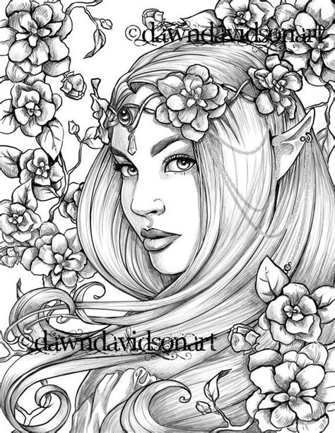 freckles  fairy coloring page printable colouring