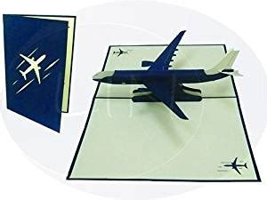 templates for handmade airplane 3d pop up card pop up 3d greeting card for pilots and flight
