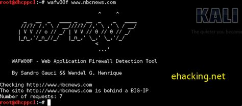 wafw00f tutorial web application firewall detection kali linux tutorial