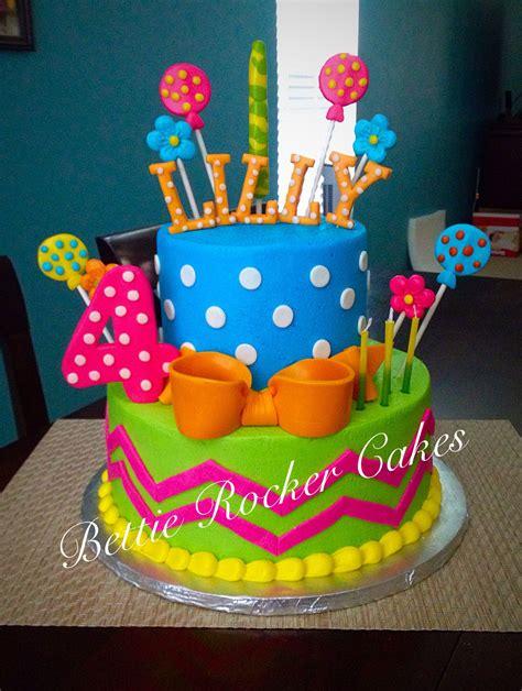 girly colorful bright birthday cake girls teen polka dot chevron bettierockercakesblogspotcom