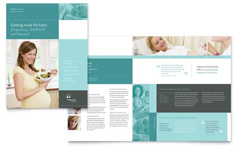 pregnancy clinic brochure template word publisher