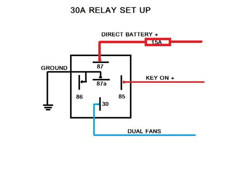 cooling fan relay wiring diagram efcaviation