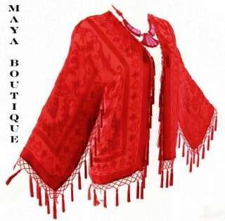 Pashmina Pop Cutting beaded silk velvet burn out duster opera coat shawl scarf wrap ponchos