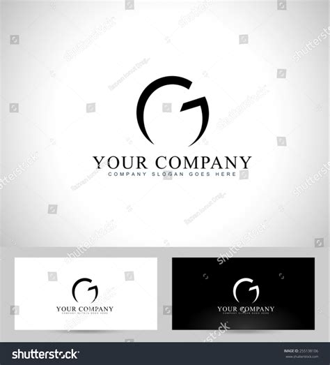 z graphic bussiness cards template 2 x3 1 2 letter g logo design creative logo stock vector 255138106