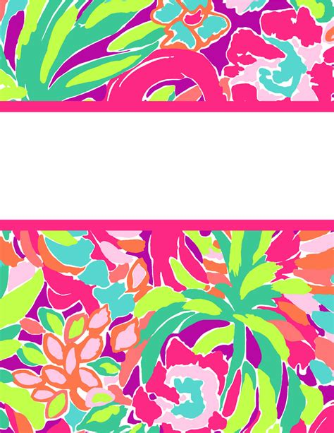 lilly pulitzer binder templates preppy goes back to school with lilly for