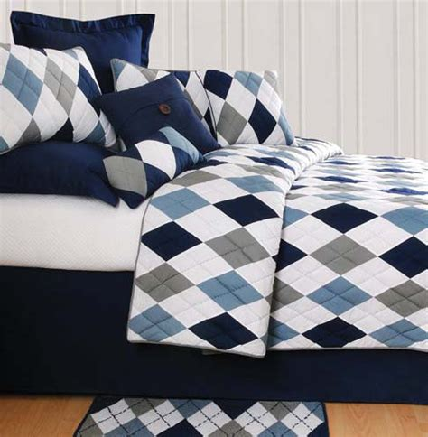 Navy Blue And Gray Bedding by Argyle Blue Bedding Oceanstyles