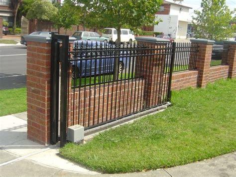 front yard brick fence designs brick fence iron fence grey cap rail fence fence