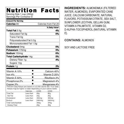 silk light almond milk nutrition facts almond milk vanilla nutrition facts nutrition ftempo