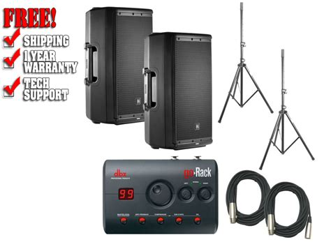 Go Rack by Jbl Eon612 Speakers Dbx Gorack Processor Bundle Dj Pa